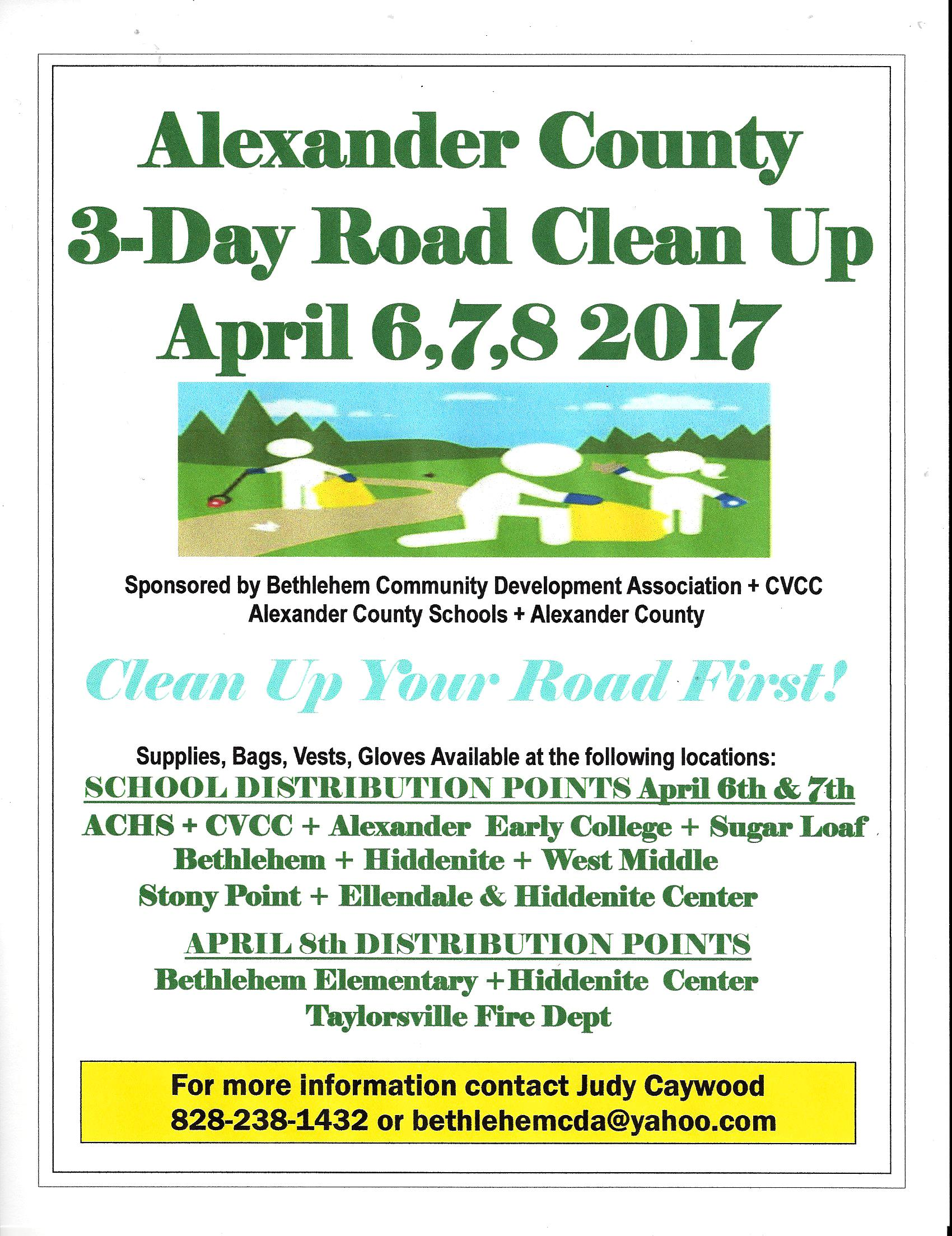 North carolina alexander county hiddenite -  Alexander County Roadside Cleanup Click Here For More Info